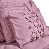 ROYAL COMFORT 7PCS PLEAT COMFORTER SET -QUEEN TRUFFLE + Duck Pillows