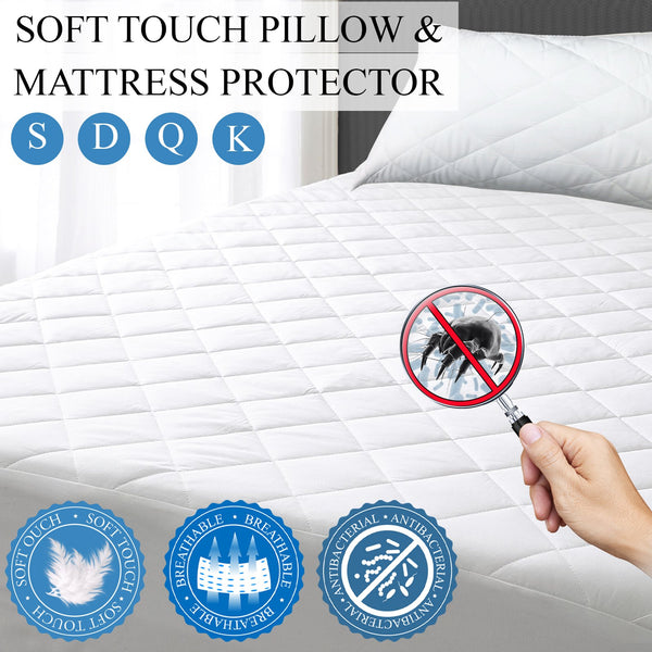 SOFT TOUCH MATTRESS & PILLOW PROTECTOR