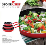 StoneChef Pan Coated Cookware - Pans Set $300 RRP