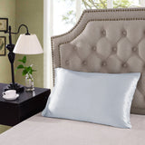 Royal Comfort Mulberry Silk Pillow Case Twin Pack and Duck Pillow Combo