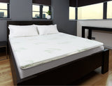 Bamboo Mattress Topper + Bamboo Quilt + Bamboo Contour Pillow Twin Pack