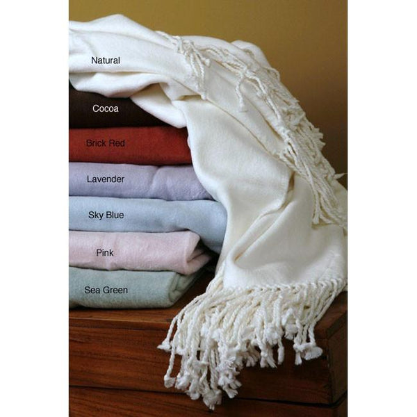 100% Egyptian cotton luxury throw