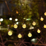 Solar Powered Water Drop String Light
