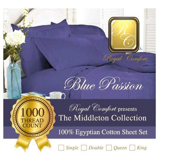 Middleton Collection Luxurious 1000-thread count Egyptian sheet sets Single
