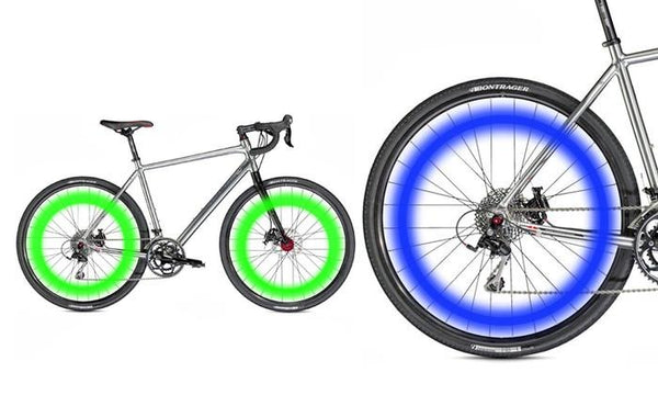 Set of 2 LED Bicycle Wheel Lights Green