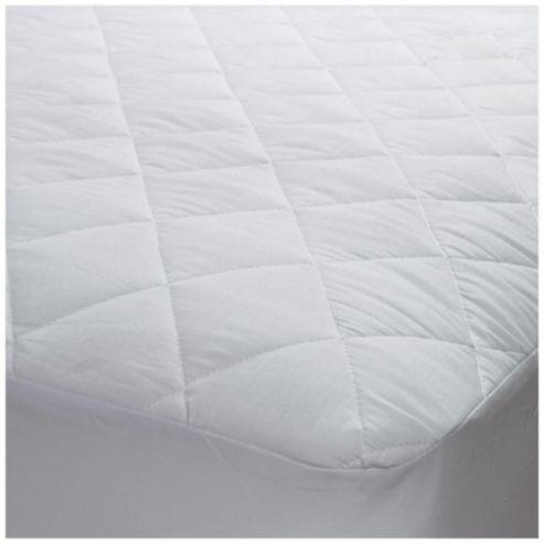 Fully Fitted Mattress Protector Bleached Cotton Cover 130g/m2
