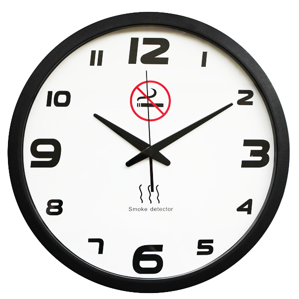 Smoke Alarm Clock - Smoke Alarm & Wall Clock In One