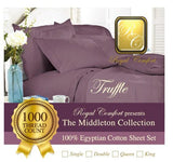 Middleton Collection Luxurious 1000-thread count Egyptian sheet sets Double