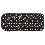 CuddleCo Comfi-Cush Memory Foam Stroller Liner Black and White Stars