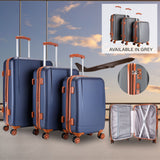 MILANO ELITE 3PC ABS LUGGAGE - EXPANDABLE ZIPPER, TSA & MORE!