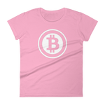 Bitcoin Defender - Bitcoin Womens Short Sleeve T-Shirt - Bitcoin - Bit Attire