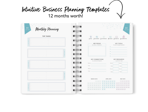 "The Launch Planner™ 2018 (Beta): Confetti Splash, ""BLEMISHED BEAUTY"""