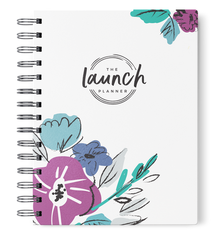 The Launch Planner™ FLORAL SKETCH: July 2018-  June 2019
