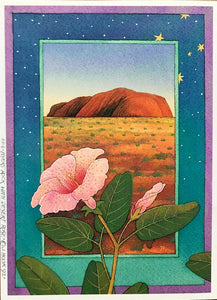 FP8-Ayers Rock with Desert Rose