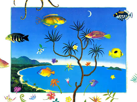 Floating Fish With Flowers