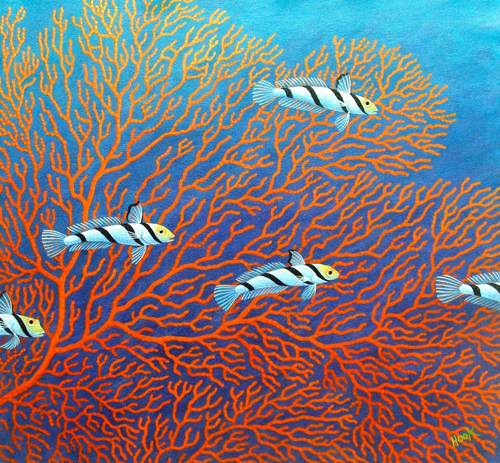 Gobies with Sea Fan Coral