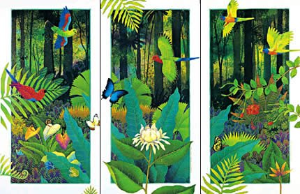 "L1-L3 (set). ""Rainforest Life"" I,II,III"