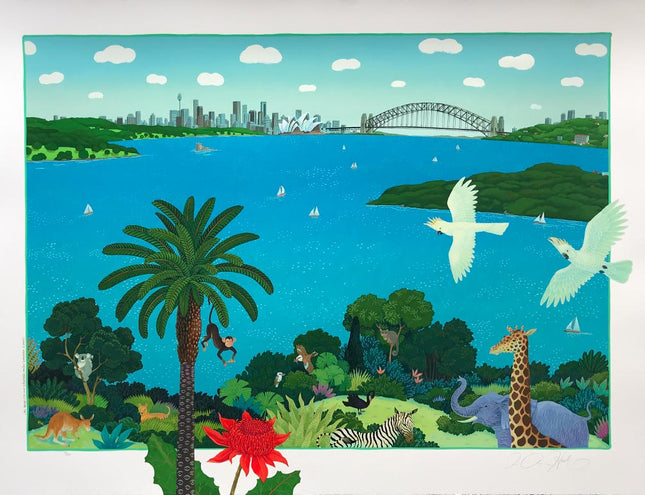 S18-'Sydney Harbour from Taronga Park Zoo'