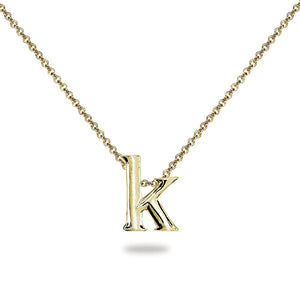 Alphabet Letter Pendants Sterling Silver 925 Best Price Jewelry Gift Initial K