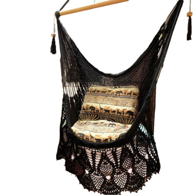 Bells Black Hammock Chair