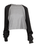 Croped Long Sleeve Sweat Shirt - CYCOORDI