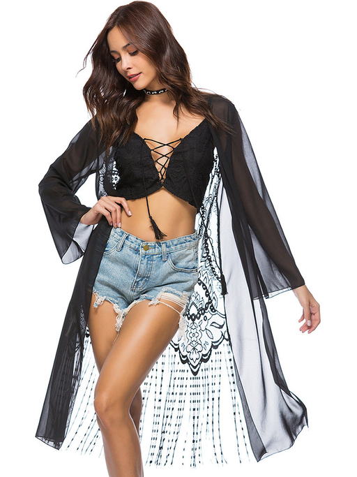 Lace Back Sheer Robe - CYCOORDI