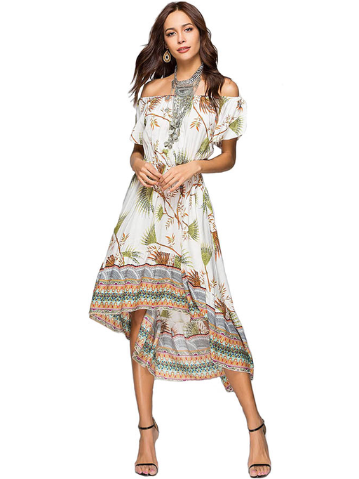 Printed Asymmetrical Dress