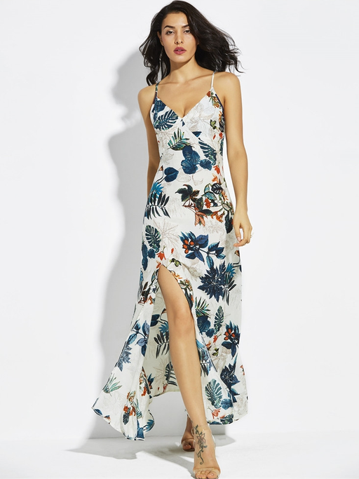 Printed Slip Maxi Dress