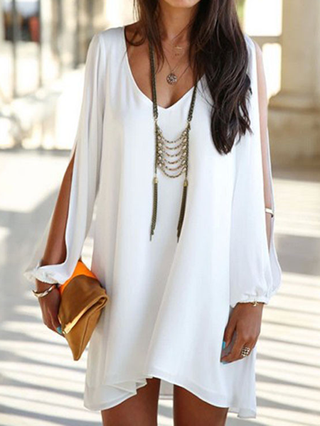 Slit Sleeve Mini Dress