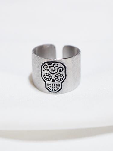 Silver925 Skull Carve a Seal Rings