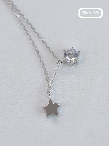 Silver925 Star and Cubic Necklaces