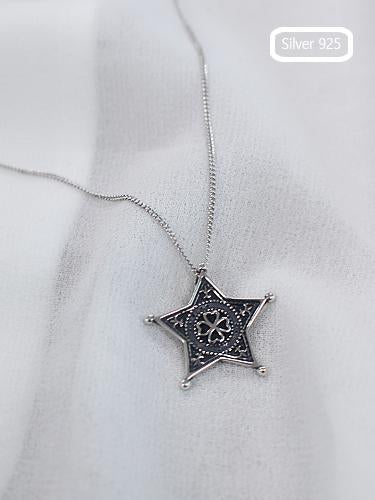 Silver925 Star Four Leaf Clover Necklaces