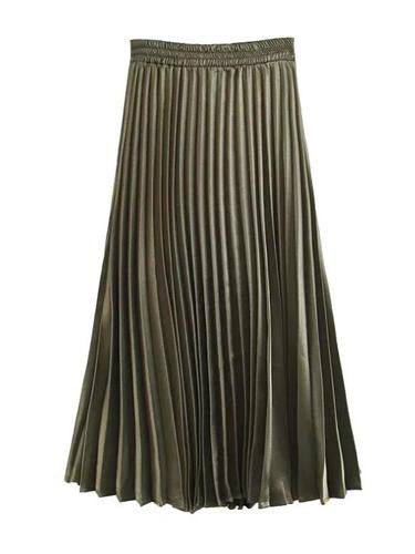 Vintage Antique Pleats Long Skirts