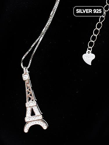 Silver925 The Eiffel Tower Necklaces