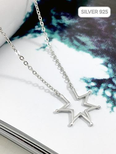 Silver925 Open Star Necklaces