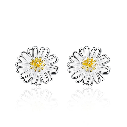Daisy Silver Stud Earrings - CYCOORDI