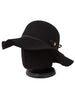 Wave Floppy Hat Ribbon Logo Type 820RL Black