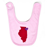 Illinois Love Baby Bib