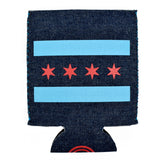 Chicago Flag Denim Can Cooler