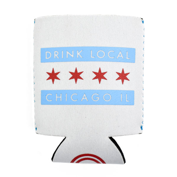 Chicago Flag Drink Local Can Cooler