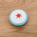 Chicago Flag Handmade Ceramic Magnet