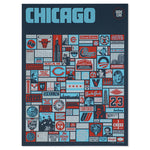 "Super Chicago Icons 18"" x 24"" Screen Print"