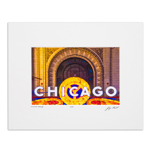 "Chicago Theatre 8"" x 10"" Photograph"