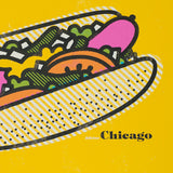 "Delicious Chicago Hot Dog 8"" x 10"" Print"