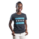 Drink Local Chicago Flag Womens Fit Tshirt