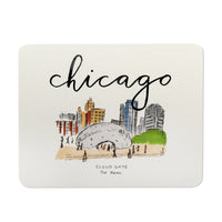 Chicago Cloud Gate Bean Illustrated Postcard