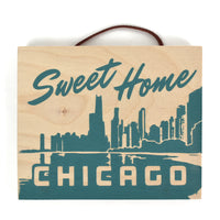 "Sweet Home Chicago 5"" x 6"" Wood Sign Artwork"