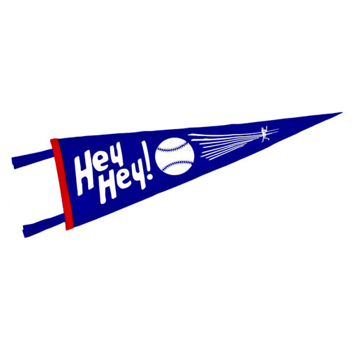 Hey Hey Chicago Cubs Pennant