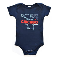 Born in Chicago Baby Onepiece