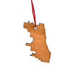 Chicago Wood Itsy Ornament